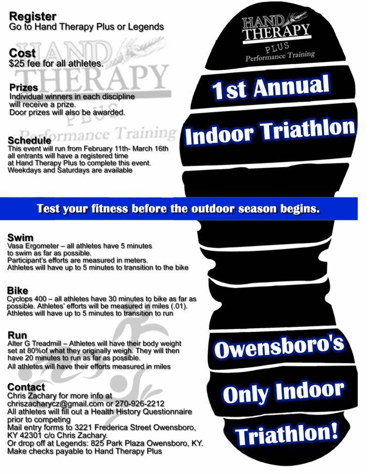 Indoor Triathlon at Hand Therapy Plus